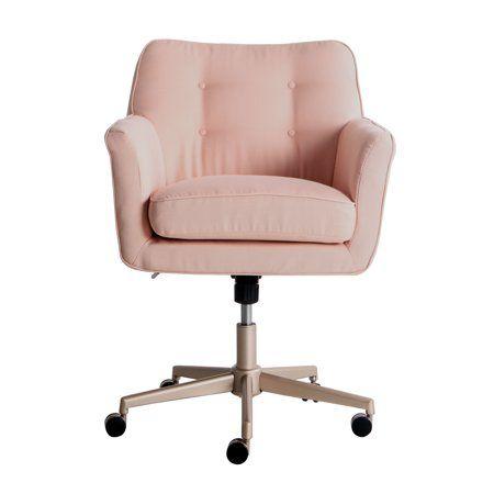 Serta Style Ashland Home Office Chair Blush Pink Twill Fabric Walmart Com Home Office Chairs Modern Office Chair Comfortable Office Chair