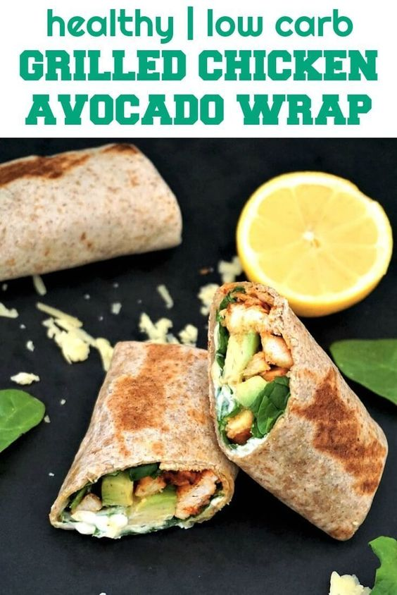 Grilled Chicken Avocado Wrap