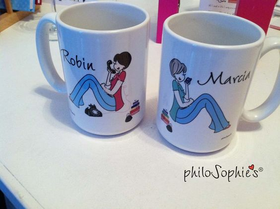 The best accessory a girl can have is her best friend! BFF mugs make a great college going away gift. #MugMonday http://bit.ly/1rki9Xd :: philoSophie's