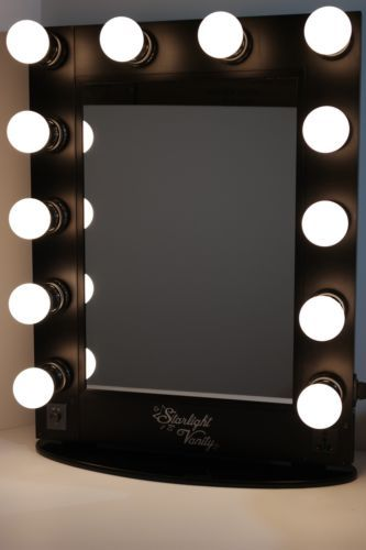 starlight vanity makeup lighted mirror hollywood backstage broadway mirror ebay ba os. Black Bedroom Furniture Sets. Home Design Ideas