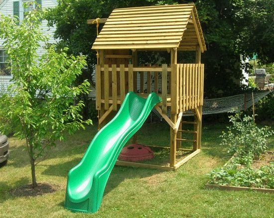 Kids play fort outside stuff pinterest playhouses for Simple outdoor playhouse plans