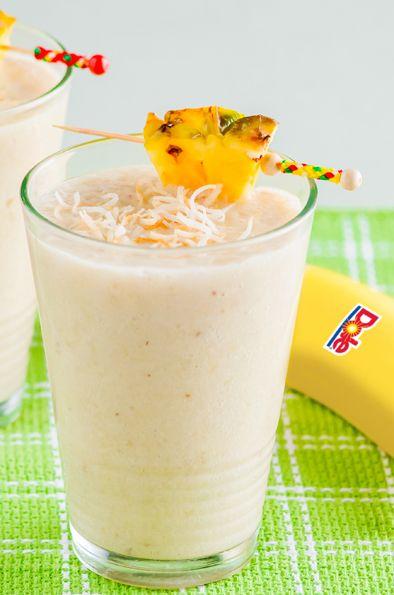 banana pineapple coconut smoothie