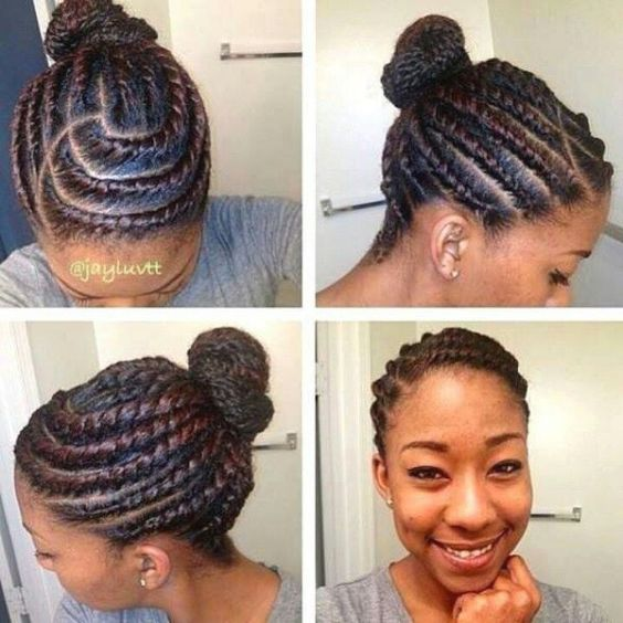 Tremendous Flats Protective Styles And Styles For Natural Hair On Pinterest Hairstyles For Women Draintrainus