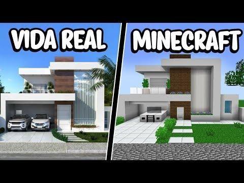 Reconstrui Uma Casa Moderna Da Vida Real No Minecraft Ficou