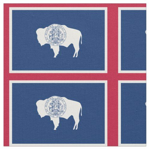 Patriotic Wyoming State Flag Fabric Fabric Flags State Flags Printing On Fabric