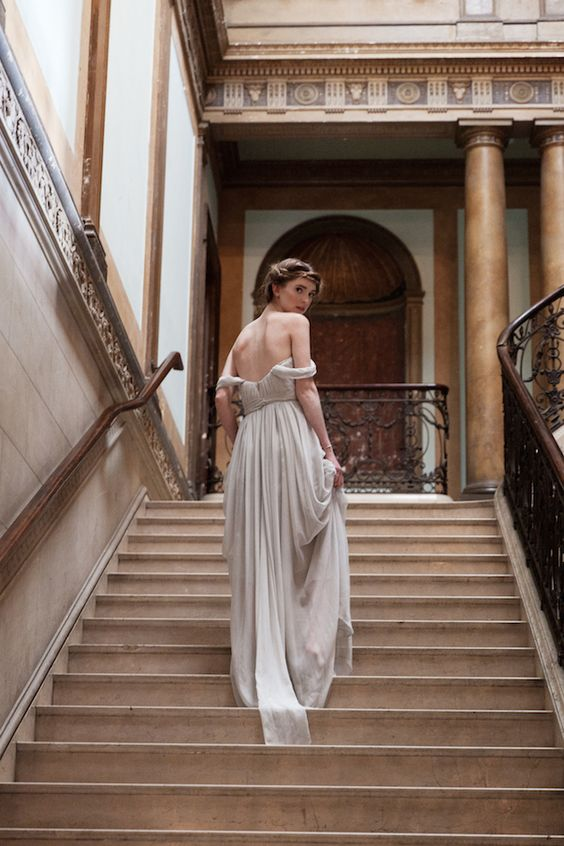 Love the back, so very Greek. Alexandra Grecco 2014 Wedding Dress Collection