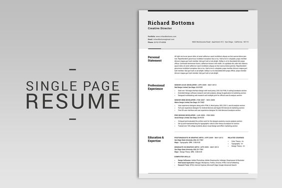 All in One Modern Resume Box V.2 by SNIPESCIENTIST on @creativemarket
