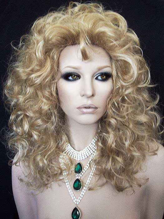 Gorgeous Puffy Blonde on Blonde Drag Wig.