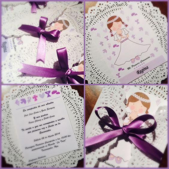 Invitaciones primera comunion primera comunion pinterest - Invitaciones comunion busquets ...