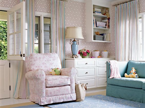 A cheerful Dutch door ushers in cool ocean breezes to this Southern California sitting room.