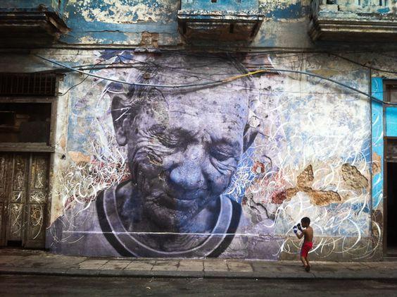 Wrinkles of the City, Havana, Cuba by JR and José Parlá