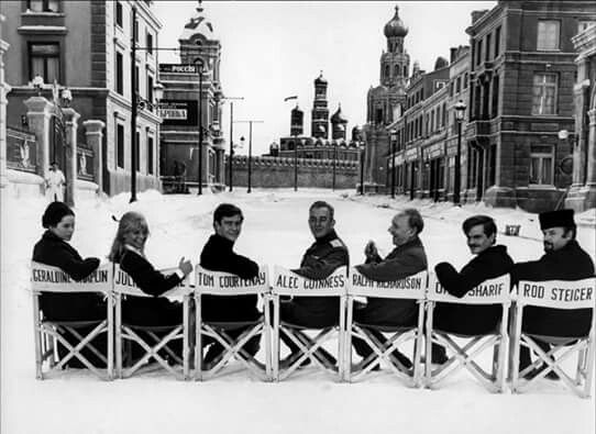 Protagonistas de la película Doctor Zhivago fotografiados en Madrid, en el barrio de Canillas, donde se rodaba la película en el año 1965.