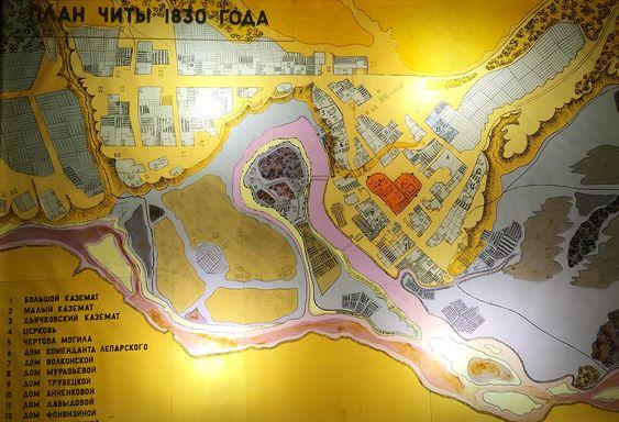 План Читы 1830 года, Музей декабристов, Чита. Фото: Evgenia Shveda
