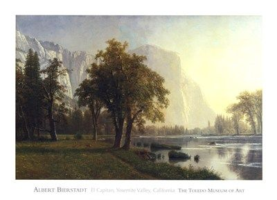 El Capitan, Yosemite Valley, California, 1875, Art Print by Albert Bierstadt