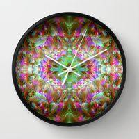 Wall Clock featuring light rose by ARTDROID $30.00