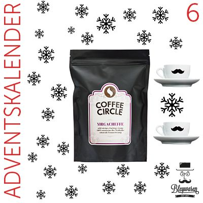Heute im Adventskalender: Coffee Circle Yirgacheffe Kaffee mit 2 Tassen! http://blog.bleywaren.de/6-tuer-coffee-circle-kaffee-tassen/