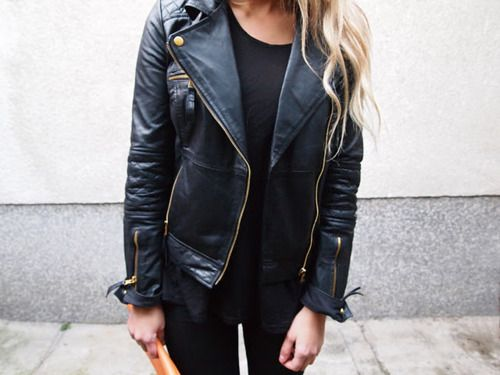Black leather jacket | Clothes | Pinterest | Black leather jackets ...