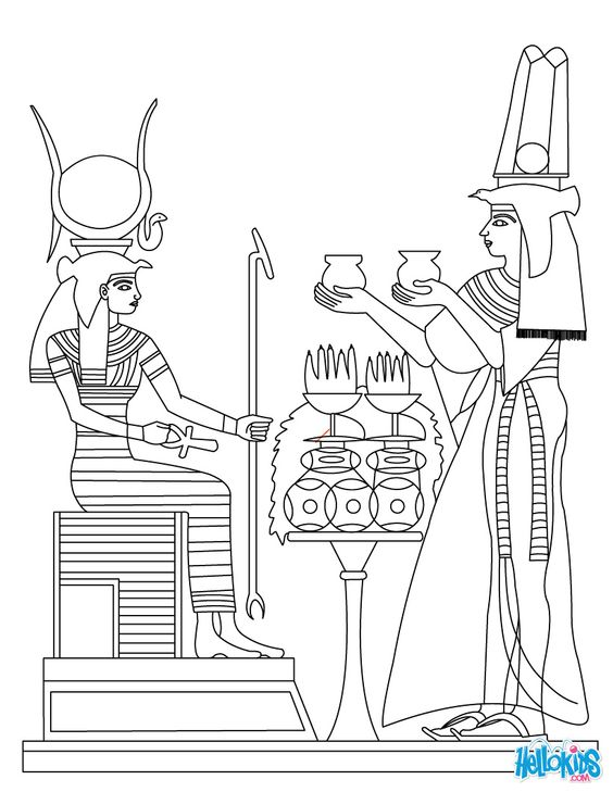 egyptian coloring pages | ANCIENT EGYPT ART coloring page | PROYECTO ...