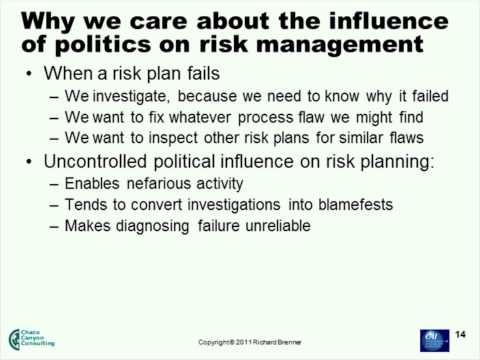The Organizational Politics of Risk Management - YouTube - risk plan