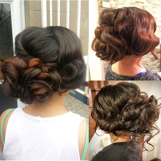 Wedding hairstyles/Updos / bridal hair  Hair by Bridal Hair Couture By Katie www.bridalhairtoronto.com