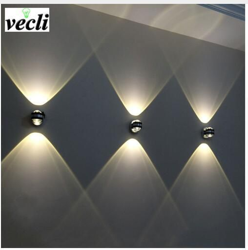 2019 6w Led Wall Lamp Up Down Adjustable Angle Cube Simple Modern For Outdoor Building Decoration Ip65 Wall Lamps Living Room Up Down Wall Light Wall Lights