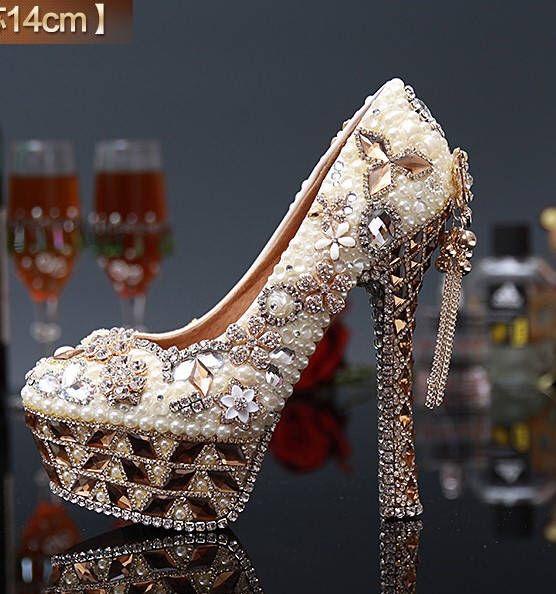Custom Womens Wedding Shoes Formal Pearls Swarovski Crystal Etsy In 2021 Rhinestone Wedding Shoes Womens Wedding Shoes Wedding Shoes