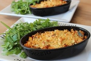 Crumble courgettes tomate chèvre 6pp