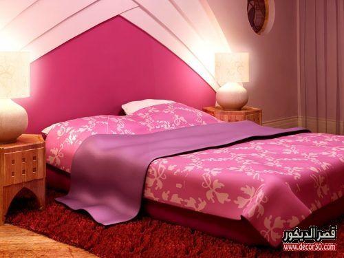 الوان حوائط غرف النوم الحديثة الوان دهانات غرف النوم بالصور قصر الديكور Girl Bedroom Decor Bedroom Design Pink Bedroom Design
