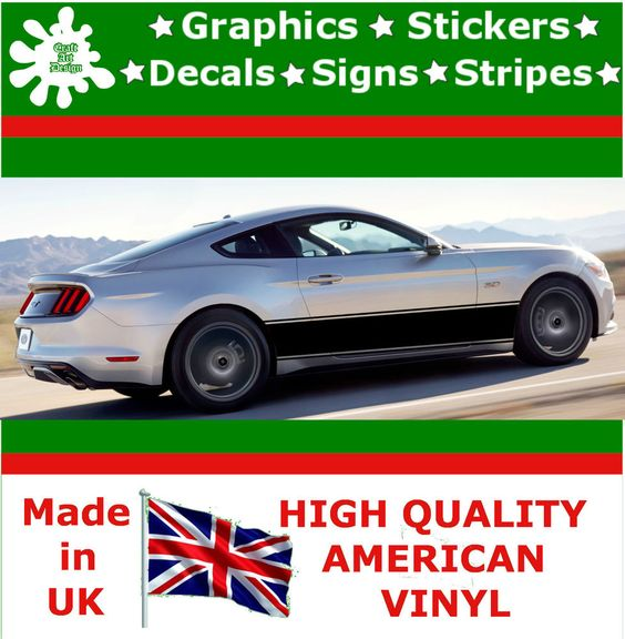 19 racing stripes sticker vinyl decal art car auto rally graphics viper hi17 19