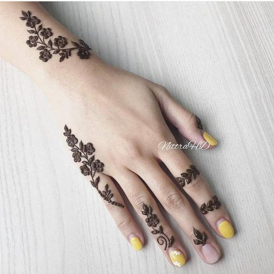Simple Tattoo mehndi design