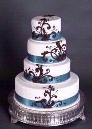 blue and purple wedding cake!