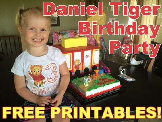 Daniel Tiger Birthday Party with Free Printables!