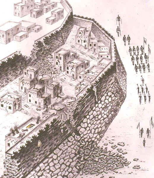 jericho: bible architecture: artist's reconstruction of ... diagram of maturation of follicle diagram of jericho