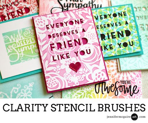 Clarity Stencil Brushes Video by Jennifer McGuire Ink: