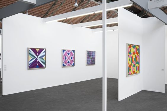 Timothy Taylor's booth at Art Brussels, 2016.