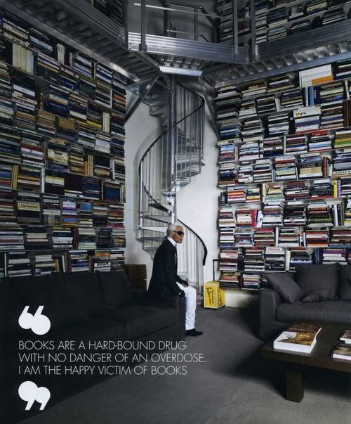 Karl Lagerfeld loves books