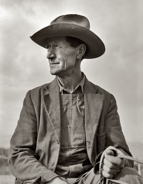 Dorothea Lange - 1939 - Portret (October 1939, Ex-Nebraska farmer)