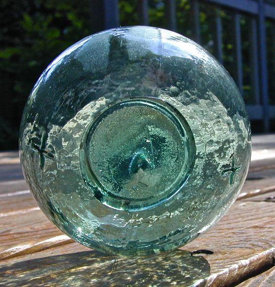 Glass Fishing Float Starlight Nautical by lightinawormhole on Etsy, $40.00