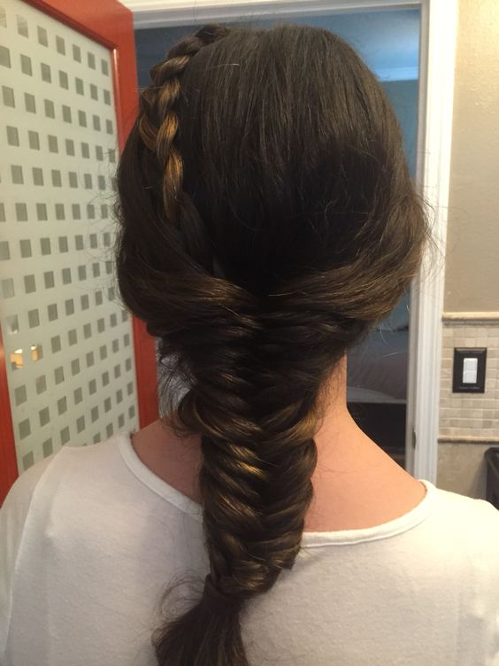 Braid combined with fishtail