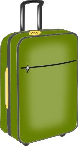 luggage by @cprostire, A green photorealistic suitcase