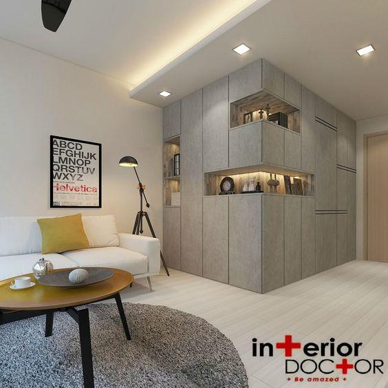 interior design for living room and kitchen - Storage cabinets, Living room kitchen and oom kitchen on Pinterest