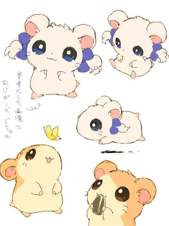 Hamtaro!!! I used to watch this when i was little. I named my hamster after it.