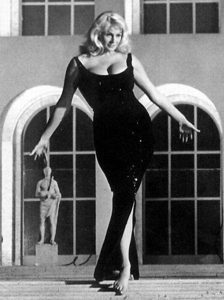 """Anita Ekberg (September 29, 1931 - ) in """"La Dolce Vita"""" 1960. age 29 #actor:"""