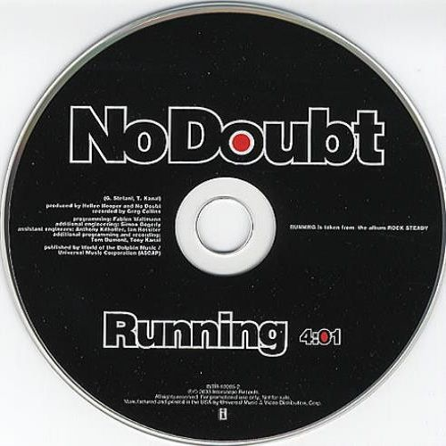 No Doubt – Running (single cover art)