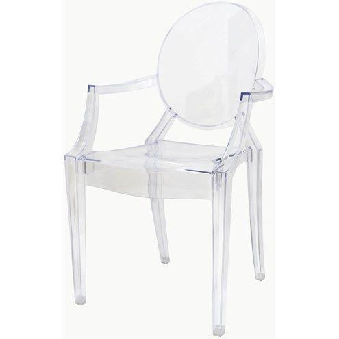 Cadeira Louis Ghost com Braco cor Transparente - 9525 - SunHouse