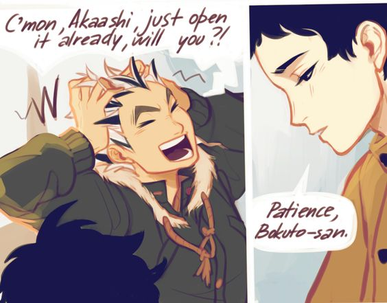"""So, what do ya think?""(3/5)/ Bokuto x Akaashi/Haikyuu!!"