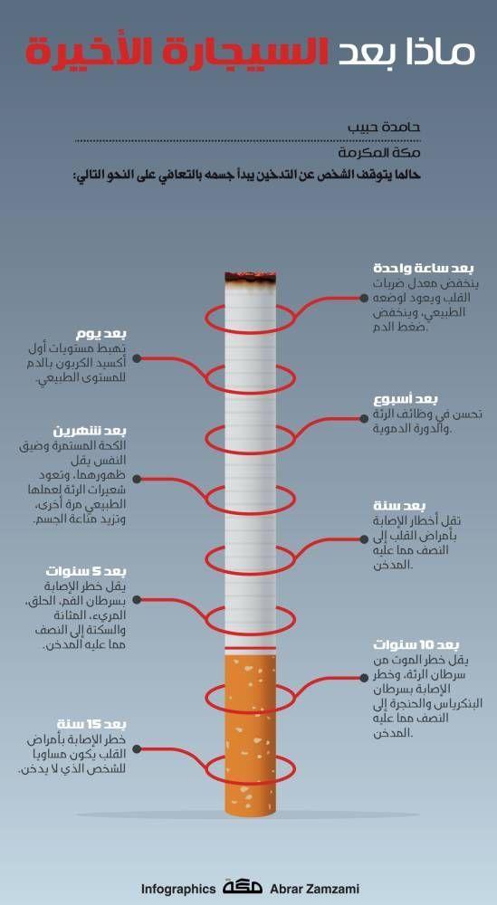 ماذا بعد السيجارة الأخيرة In 2020 Infographic