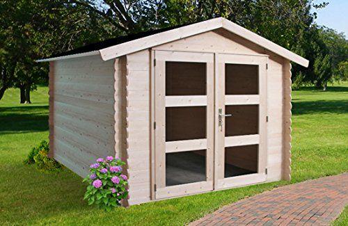 Alpholz Geratehaus Holz Mit Boden 225 X 210cm Gartenhaus Mit Dachpappe Gerateschuppen Naturbelassen Ohne Farbbe Gartengestaltung Gartenhaus Geratehaus Holz