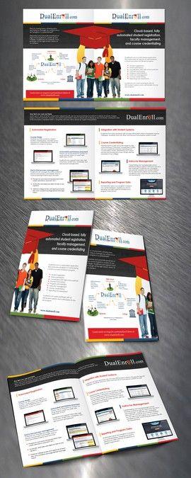 DualEnroll.com brochure by d design