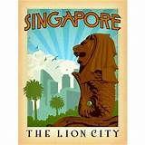Countries Travel Poster Singapore CTP063 Art Print A4 A3 A2 A1